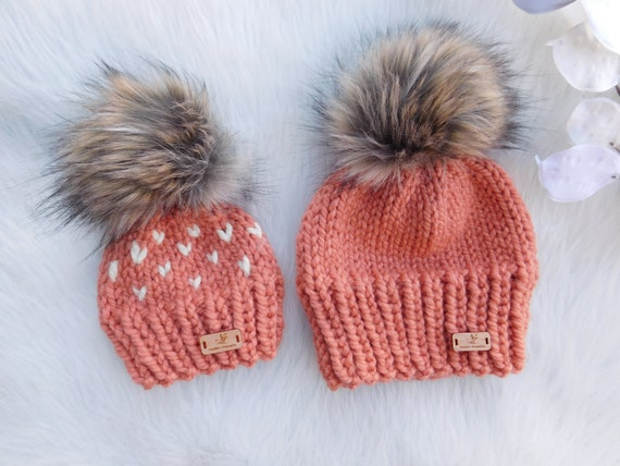 eb94d94654d Mommy and Me Matching hats. Baby girl gift ideas. Mom and