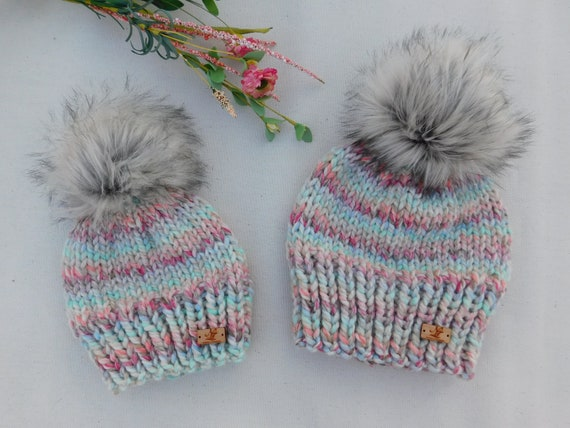 c0dba3ab902 Ready to ship Mommy and Me matching hats. Toddler winter hat.