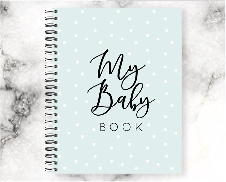 Baby Book Boy Boy Baby Blue Polka Dot Journal Babys First Etsy