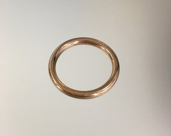 decec75ae Tiffany & Co 18k Rose Gold Wedding Band size, Tiffany and Co. AU 750, Tiffany  Wedding Bands, Tiffany Stackable Ring, Tiffany Men's Ring
