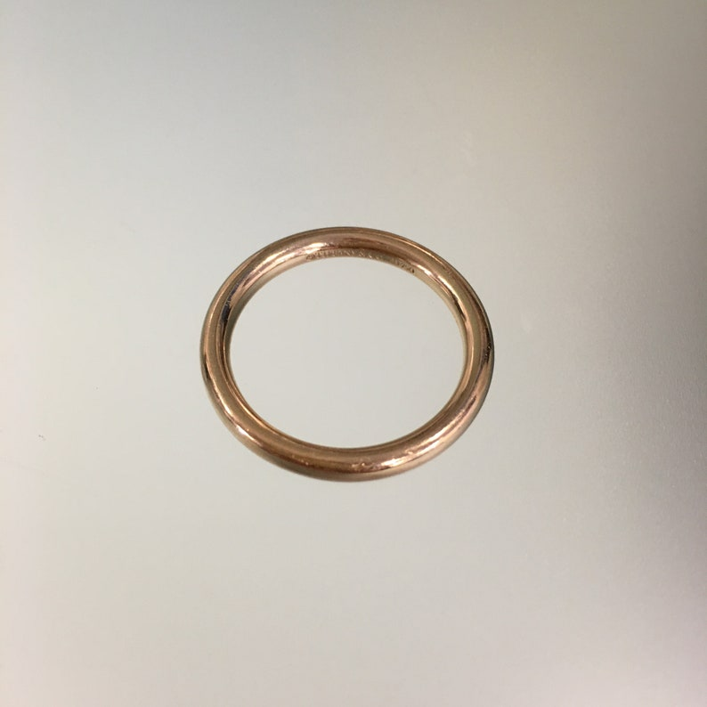 Tiffany Co 18k Rose Gold Wedding Band Size Tiffany And Co Etsy