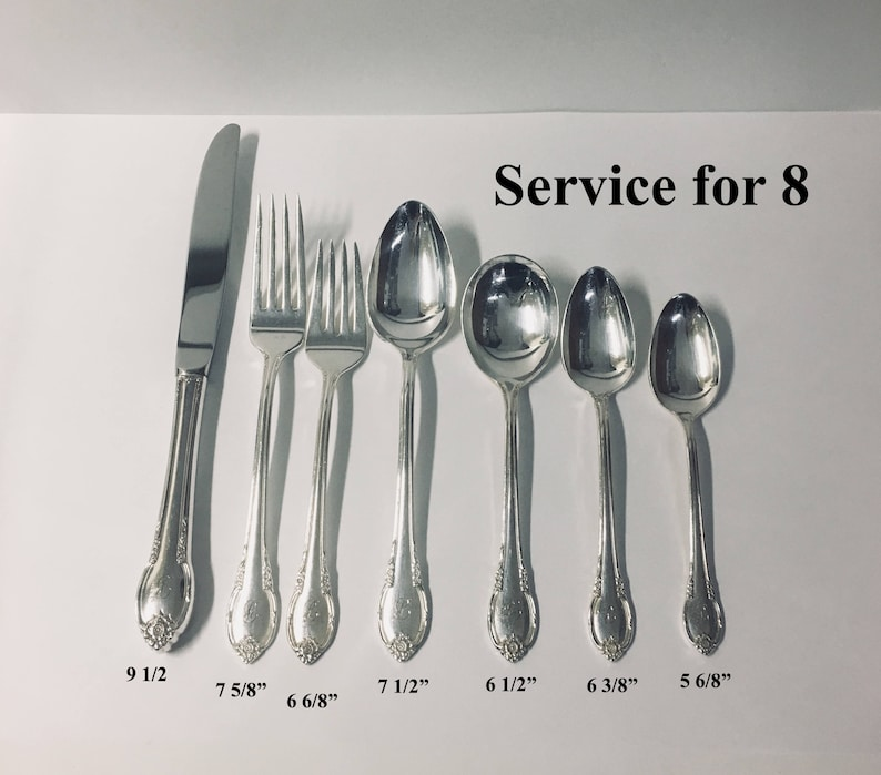 1847 Rogers Silverplate Remembrance 1950/'s Flatware Set of 4 Tea Spoons 6/""