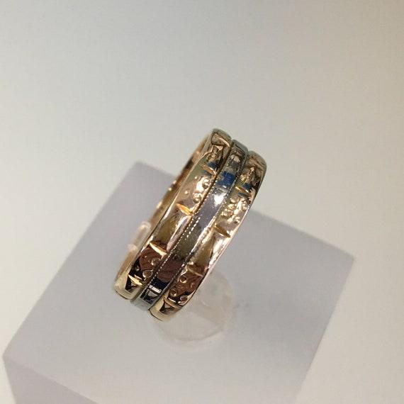 14K White Gold Ring Band Wedding Vintage size 6 34 Karat KT Solid 4.88 grams Always my baby girl