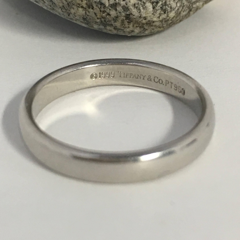 Authentische Tiffany & Co Hochzeit Platin Ehering schlicht | Etsy