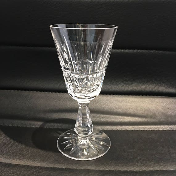 Waterford Crystal Kylemore Cutwhite Wine Glass Vintage Made Etsy