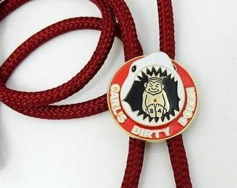 Royal Order of Jesters Bolo Tie Carl's Dirty Dozen Shark Vintage Masonic Necktie