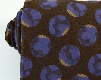 Vintage 1970s Tie Brown Purple Wide Necktie