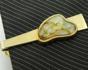 Anson Vintage Art Glass Tie Clip Bar