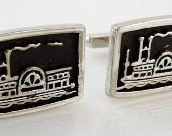 Steamboat Vintage Cufflinks
