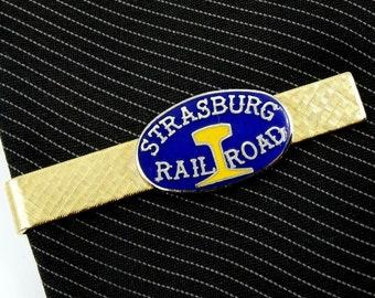 Strasburg Rail Road Railroad Vintage Tie Clip Pennsylvania Railway
