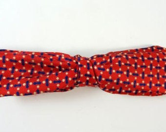 Vintage Cutter Bow Bowtie Red Thin