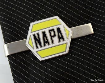 Vintage NAPA Promotional Tie Clip Bar Advertising