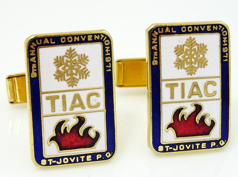 Vintage TIAC Conference Cufflinks 1971 St Jovite Thermal Insulation Assn Canada