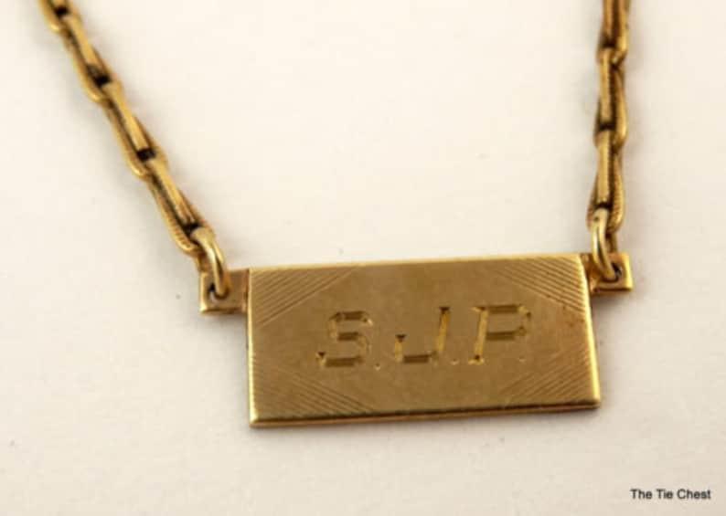 Letters SJP Initials Monogram Jewelry Vintage Chain Swank