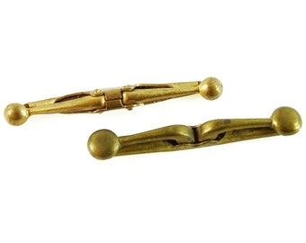 Antique French and British Mens Collar Bars Pins Clips Kisporte Tenax 4cm
