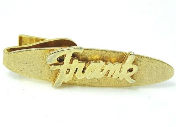 Vintage Tom Name Tie Bar Item K # 1359
