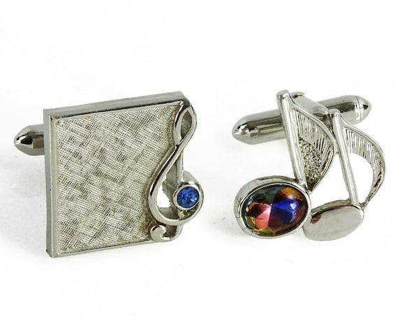 Swank Mad Men Musician Gift Vintage Cufflinks Men/'s Gift Mid Century Wrap Around Cufflinks French Cuff Cufflinks