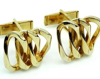 Vintage Cufflinks Elegant Mod Design Mens Jewelry