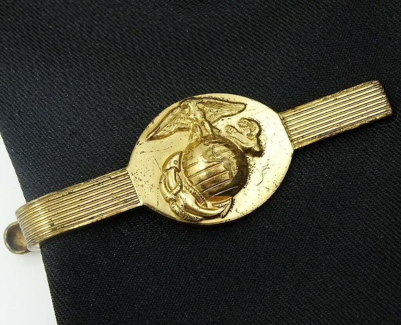 US Marine Corps Vintage Tie Clip Bar American Army Marines Military
