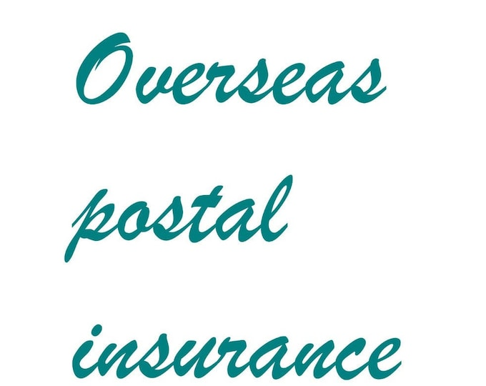 Overseas postal insurance for our clients outside of Australia, add peace of mind to your purchase