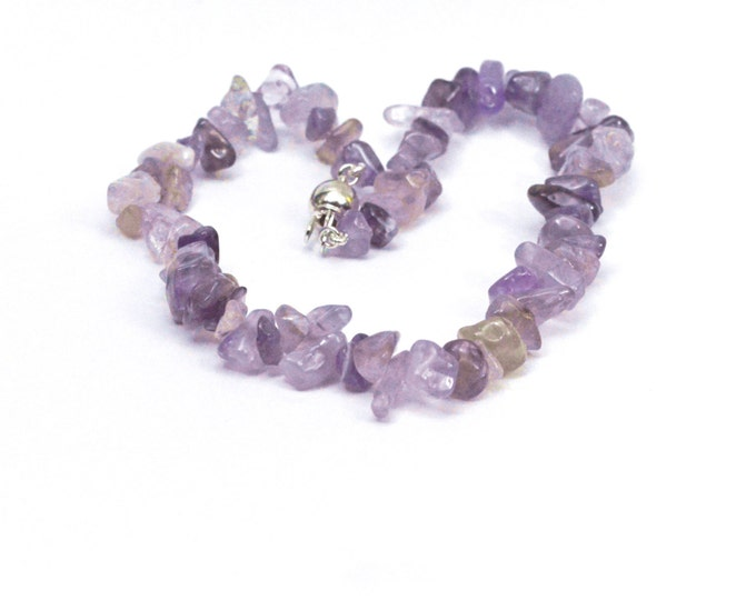 Amethyst bracelet/anklet, with sterling silver (solid) catch. Two sizes available.
