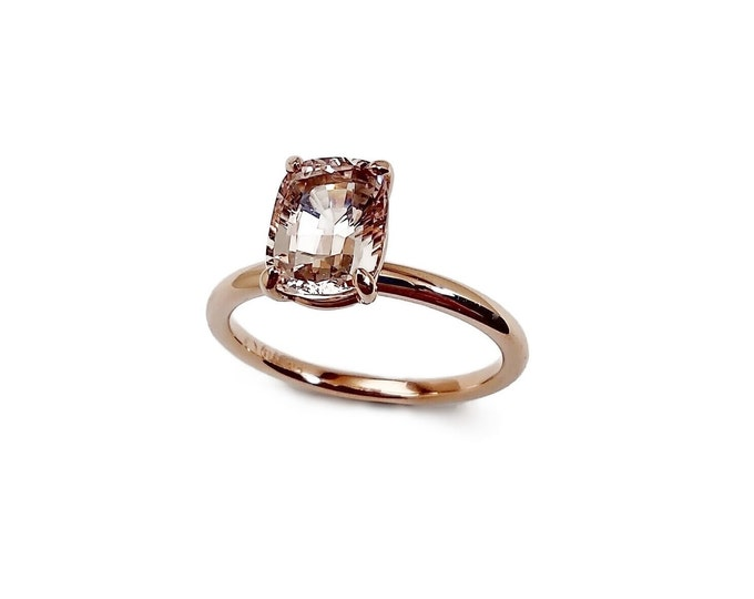 Morganite 1.44ct in 14K pink gold, lovely eye clean stone. Prices include shipping insurance.Style can be made with other stones and metals.