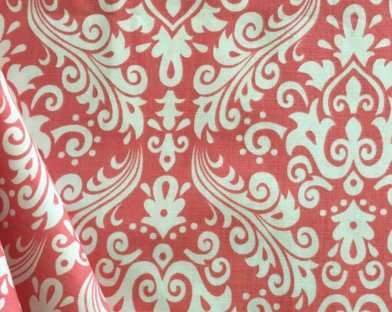 Damask Basics Riley Blake  Coral Pink Hollywood 1 yard Remnant