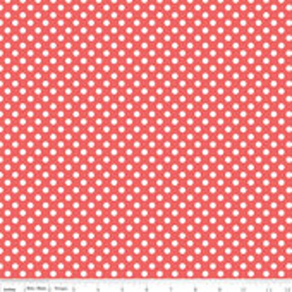 Riley Blake Basics Small Dot C350-79 Rouge BTY