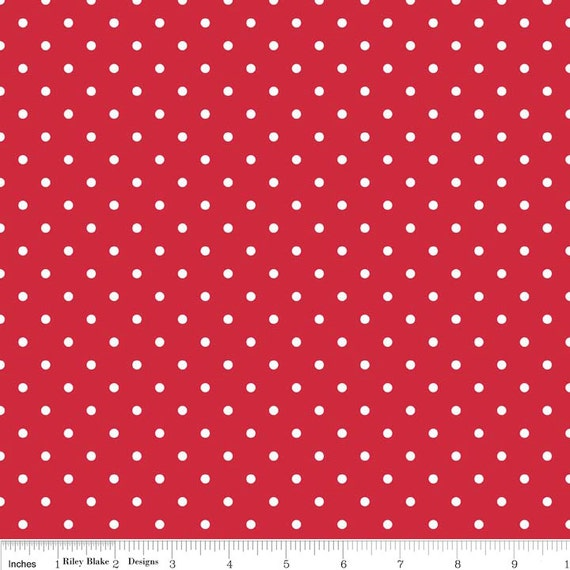 Riley Blake Basics Swiss Dot Red C670-80 3/4 yard - 1 yard