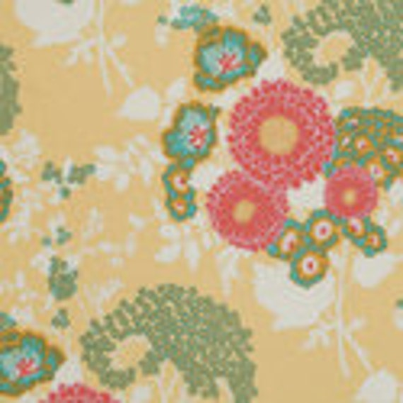 Free Spirit Fabrics Joel Dewberry Botanique Bold Bouquet Butter  1/2 yard Remnant