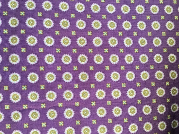 Paintbrush Studios Briarcliff Medalllions Purple  1 yard