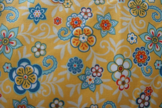 Riley Blake Designs Samantha Walker Serenata  C3262 Yellow Floral BTY (By the Yard)