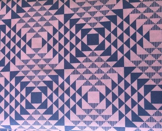 Joel Dewberry  Atrium  Pyramids Pink 3/4 yard Remnant