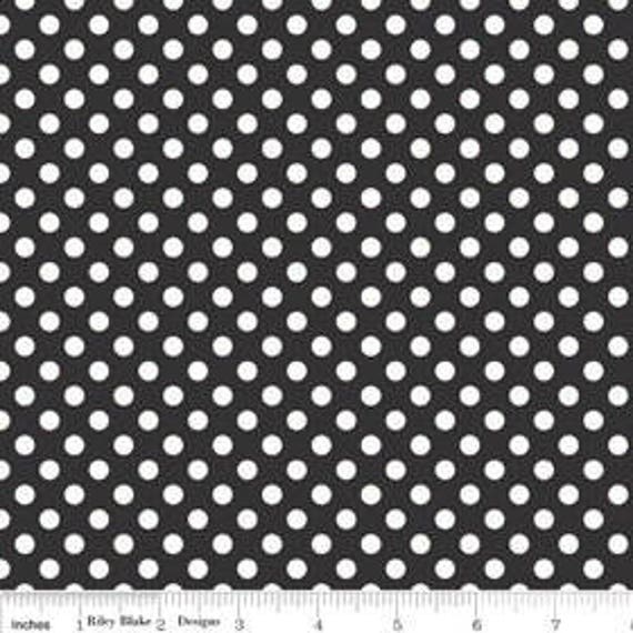 Riley Blake Basics Small Dot Black  Remnant