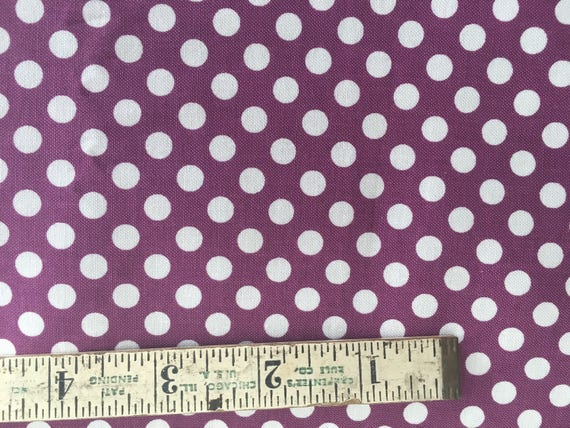 Riley Blake Basics Small Dot C320-125 Purple 1 yard Remnant