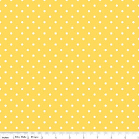 Riley Blake Basics C820-50 Yellow Swiss Dot  1 yard remnants