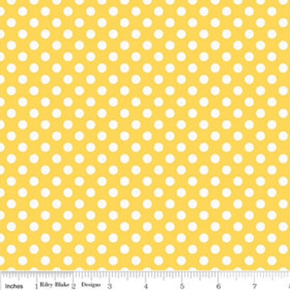 Riley Blake Basics Small Dot Yellow 1/2 yard Remnant