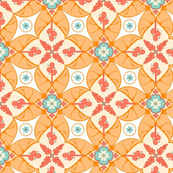 Riley Blake Designs Stitch Studios Calliope C3201 Orange 3/4 yard -1 yard
