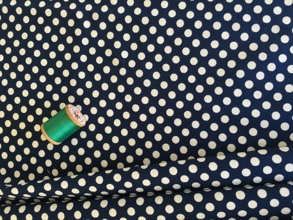 Riley Blake Basics Small Dot Navy 1 yard Remnant