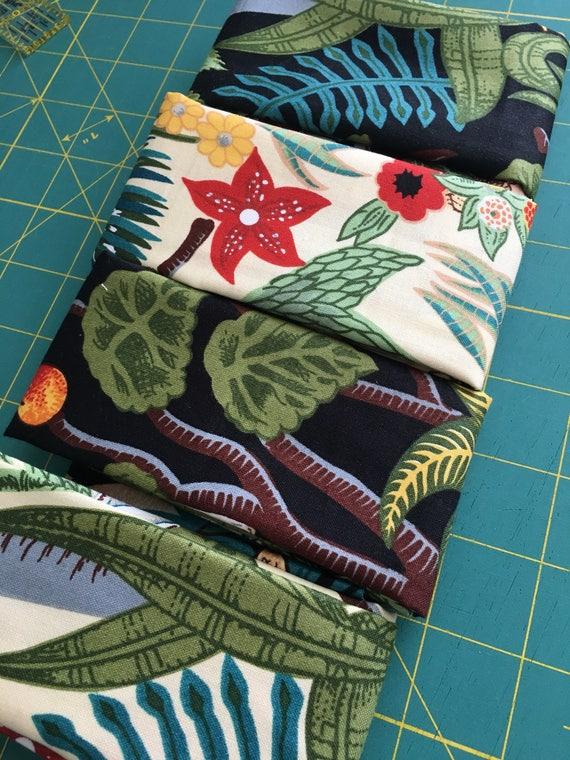Frida's Garden Remnant Bundle four pieces black and cream