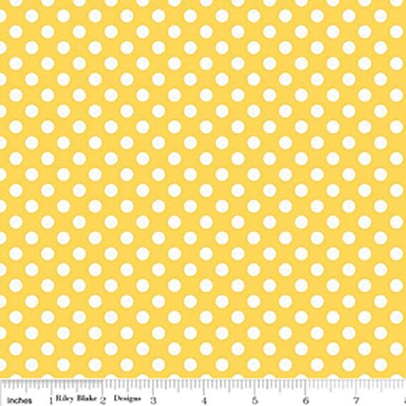 Riley Blake Basics Small Dot Yellow 1/2 yard remnant