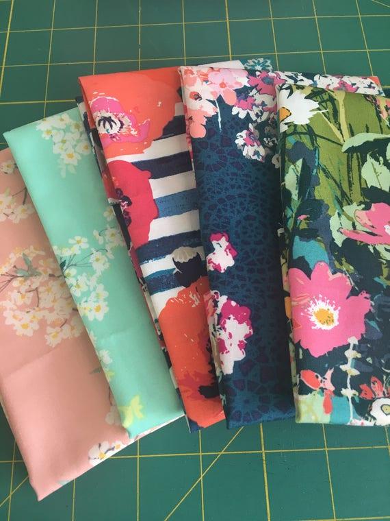 Art Gallery Katarina Rocella Remnant Bundle-4 fabrics