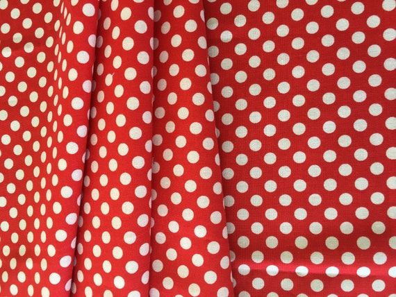 Riley Blake Basics Small Dot C350-80 Red 1/2 yard-3/4 yard