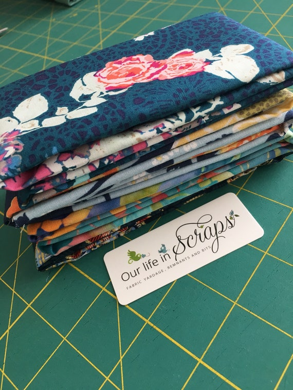 Blue for you!  Remnant Bundle-4 fabrics
