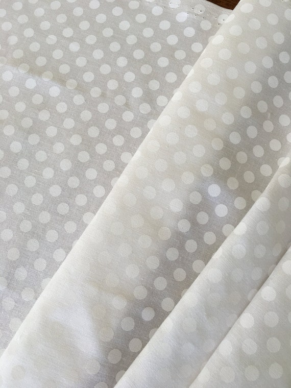 Riley Blake Basics White on White Small Dot C750-130 1/4 yard-1/2 yard