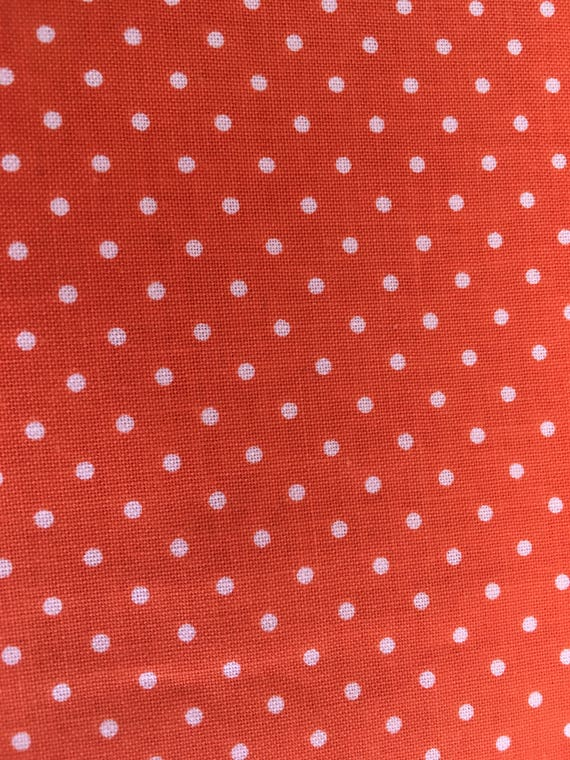 Riley Blake Basics C820 Orange Swiss Dot 1/4 - 1/2 yard