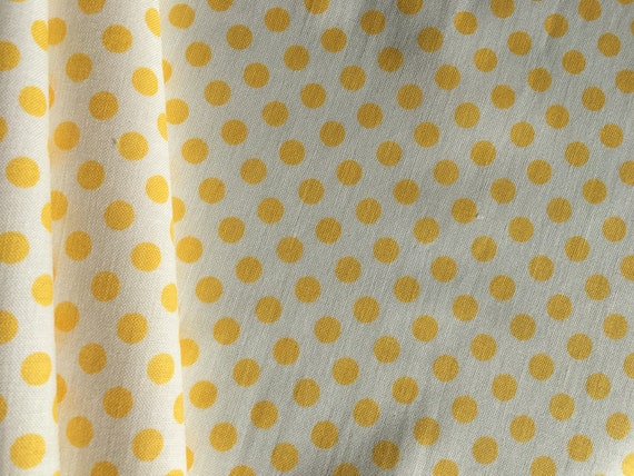 Riley Blake Basics Small Dot Yellow C480-50 1/2 yard - 3/4 yard