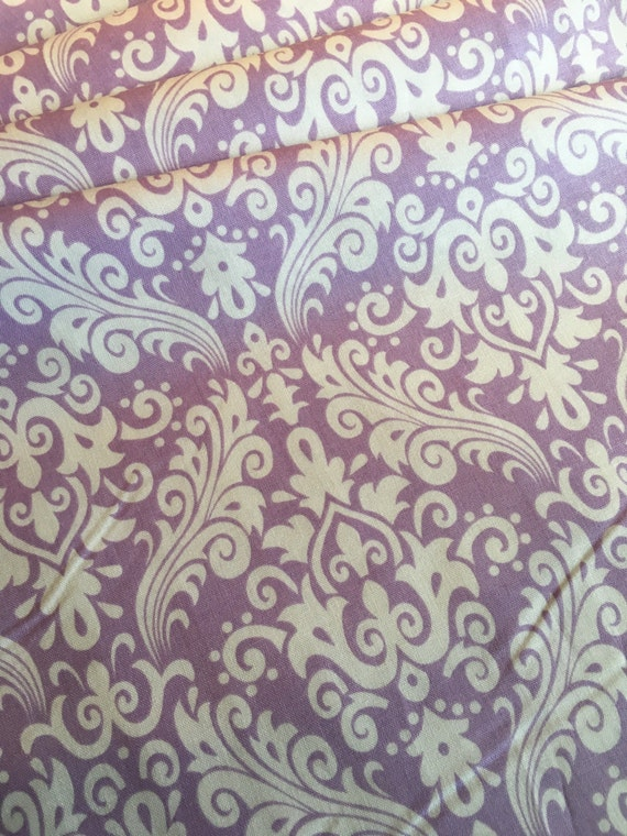 Damask Basics Riley Blake Hollywood C830-120 Lavender 1/4 yard to 1/2 yard