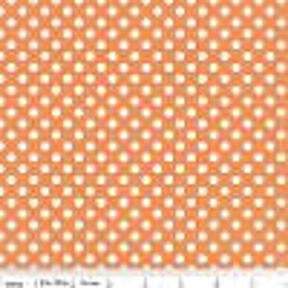 Riley Blake Basics Small Dot Orange C350-60 BTY