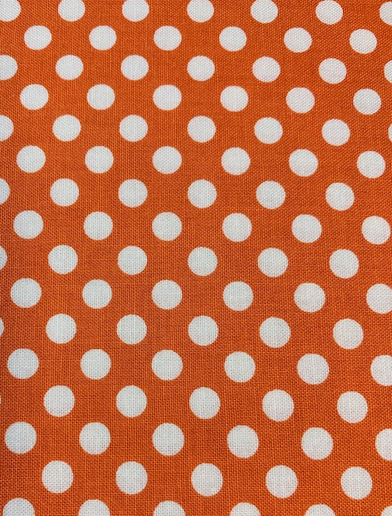 Riley Blake Basics Small Dot Orange  by the yard